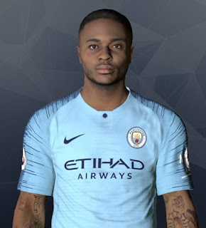 PES 2018 Faces Raheem Sterling by Ben Hossam FaceMaker