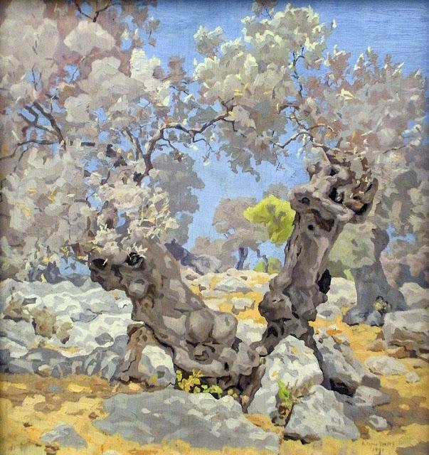 Antonio López Torres, Olivos en Mallorca, Mallorca en Pintura, Mallorca pintada, Paisajes de Mallorca