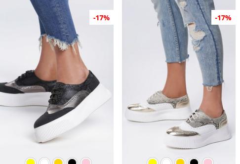 Pantofi Oxford moderni argintii, Negri la moda 2019