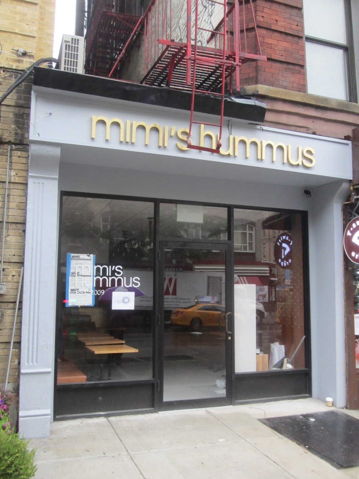 ev grieve mimi s close to serving hummus and other middle eastern