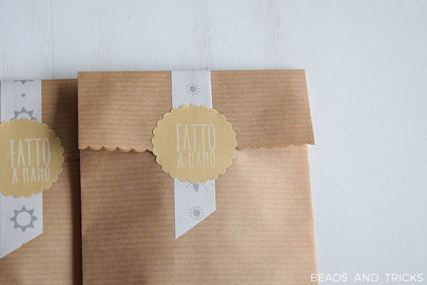 Packaging con stickers e washi tape