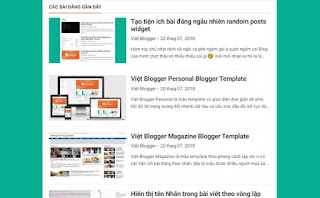 Tạo tiện ích bài đăng gần đây recent posts widget