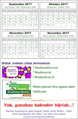 Halaman 2 kalender islam tahun 2017