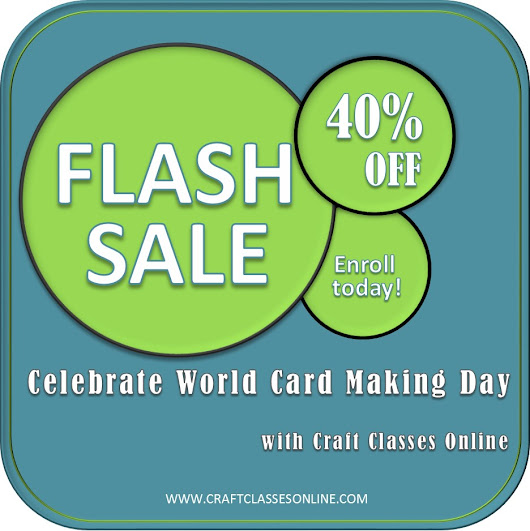 Celebrate World Card Making Day with Craft Classes Online!