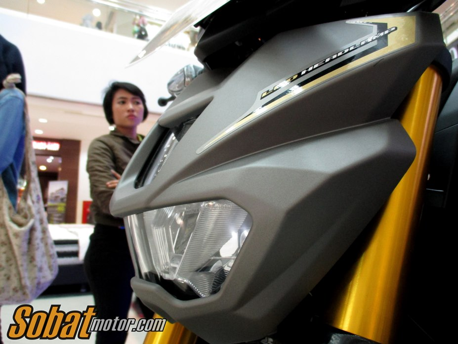 First impression Yamaha Xabre 150 dalam acara Soft Launching Newcomers Motorbike di Plaza Medan Fair . .