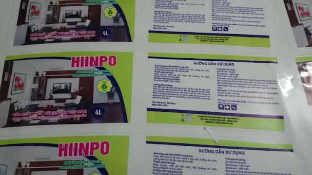 In ấn decal dán sản phẩm cao cấp
