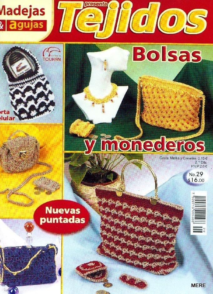 Revista: Tejidos No. 29. Bolsas y monederos - http://descarga-gratis-libros.com/
