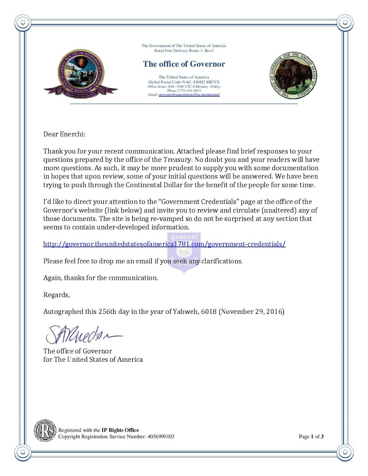 The Continental Dollar is not a hoax! and a message to David Wilcock! 332672646-Response-from-The-office-of-Governor-Regarding-the-new-currency-called-the-Continental-Dollar-page-001