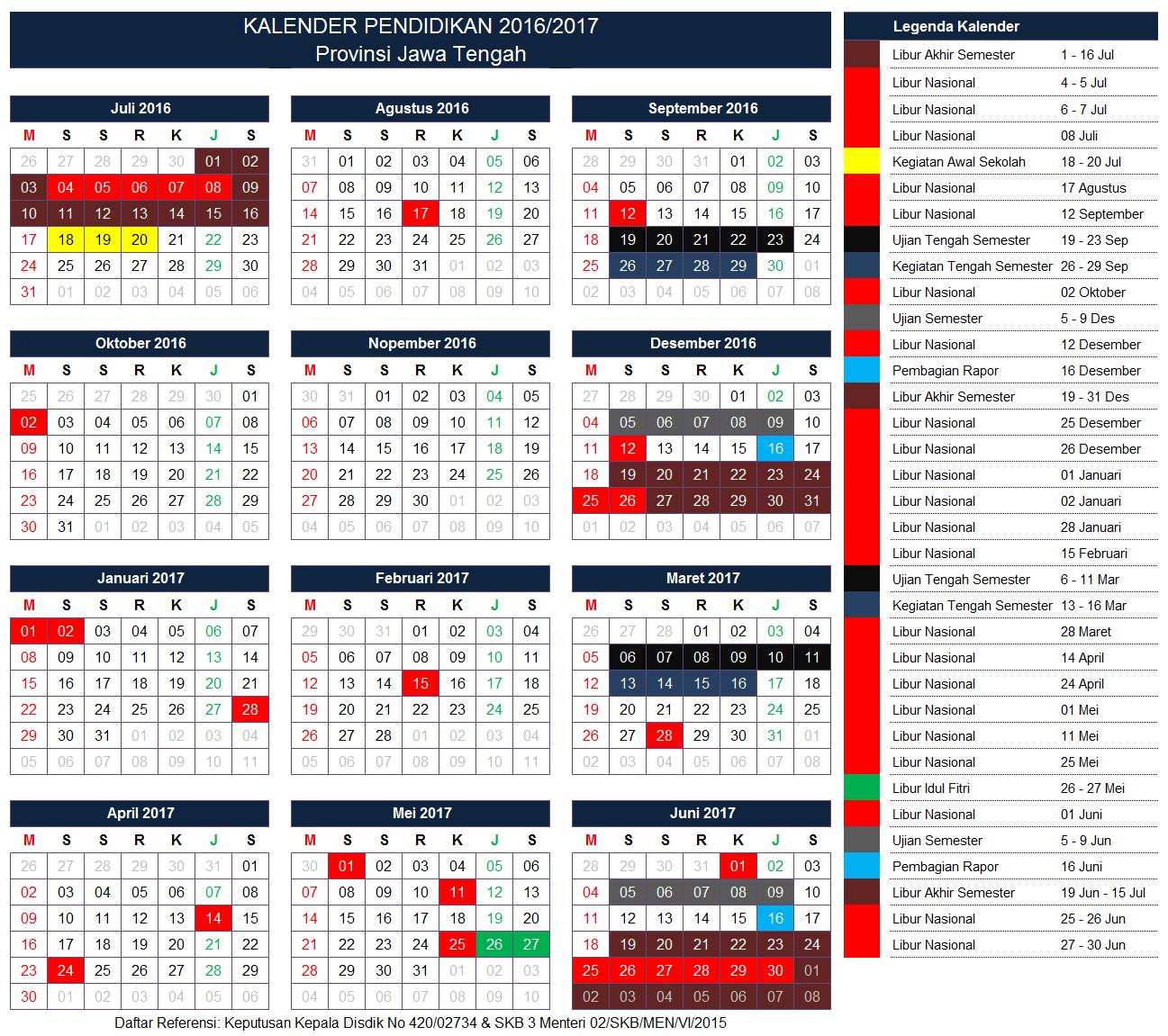 Kalender Pendidikan Provinsi Jawa Tengah