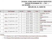 Download Jadwal Penilaian Tengah Semester (PTS) SD Kurikulum 2013 Revisi