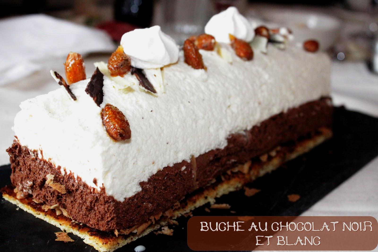 Buche mousse au chocolat blanc