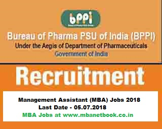 Govt Jobs In Bureau of Pharma PSUs of India | BPPI Recruitment 2018