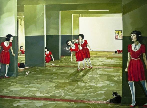 Jolene Lai pinturas surreais bizarras bonecas sombrio