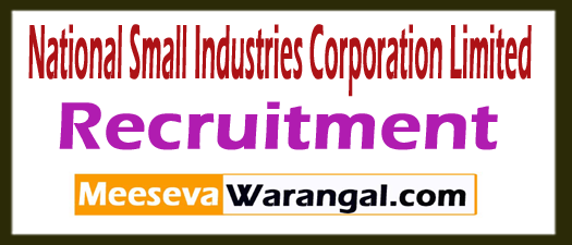 National Small Industries Corporation Limited NSIC Recruitment