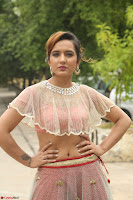 Aafia Bhardwaj looks stunning in transparent pink small choli chunni ghargra at launch of India Silk Expo ~ Exclusive Celebrity Galleries 059.JPG