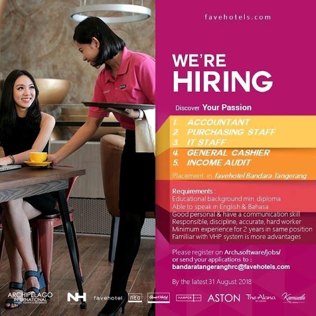 Lowongan kerja Favehotel Bandara Tangerang 2018 bagian 7