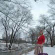 A Snowy Park, A Camera, and Some Missionary Clothes