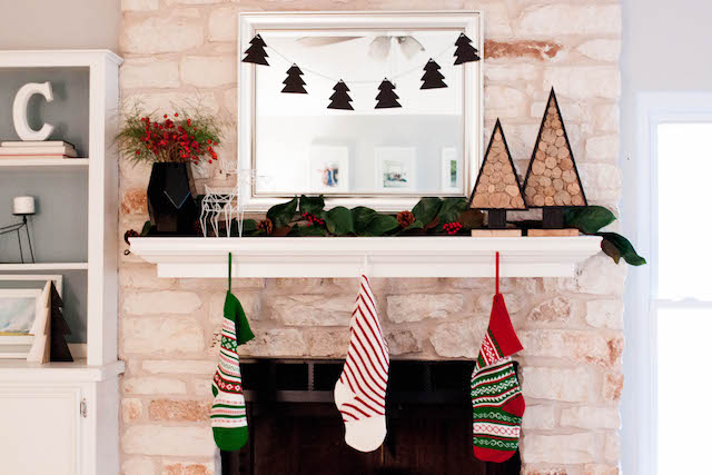 modern christmas mantel jesse coulter