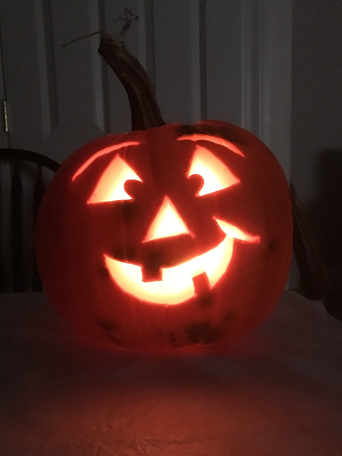Mrs. Hoyt Brought Home All The Writing And Asked Mr. Hoyt To Carve The  Pumpkin For Us. The Majority Of Students Wanted A Happy Faced Pumpkin!