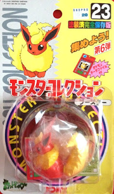 Flareon Pokemon figure Tomy Monster Collection series