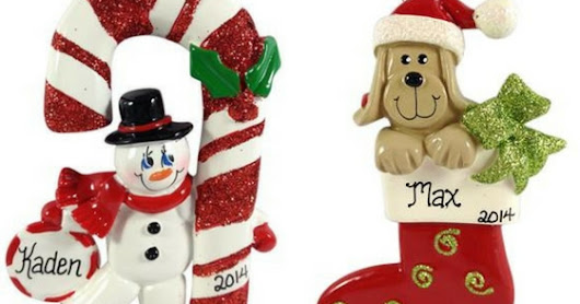 Personalized Christmas Ornaments for Everyone!