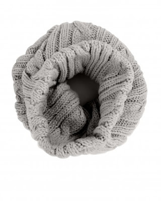Atterley Road Yerse Grey Tricot Wool Snood