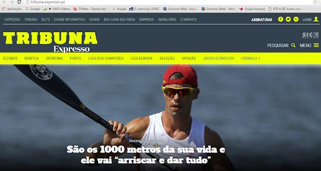 Conheça e acompanhe o novo site  Tribuna Expresso  - SIC GOLD ONLINE ... db5f0c141dece