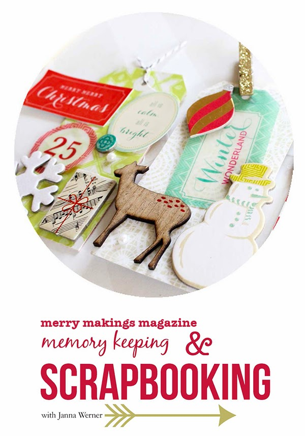 Christmas scrapbooking and memory keeping in merry makings magazine