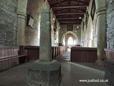 Viking ring cross-shaft Church of St John the Baptist, Stanwick, North Yorkshire