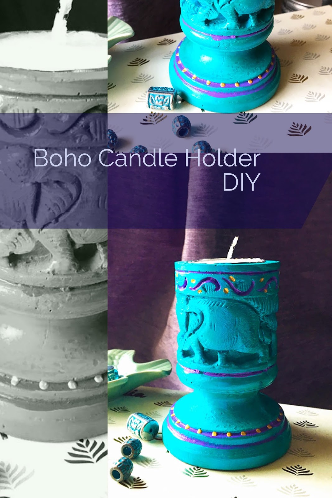 Candle holder makeover with paint