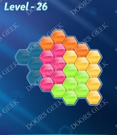 Block! Hexa Puzzle [Intermediate] Level 26 Solution, Cheats, Walkthrough for android, iphone, ipad, ipod