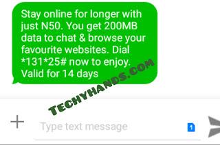 MTN 200MB for 50 Naira Plan