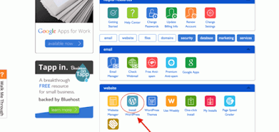 Activate the hosting on the Wordpress platform