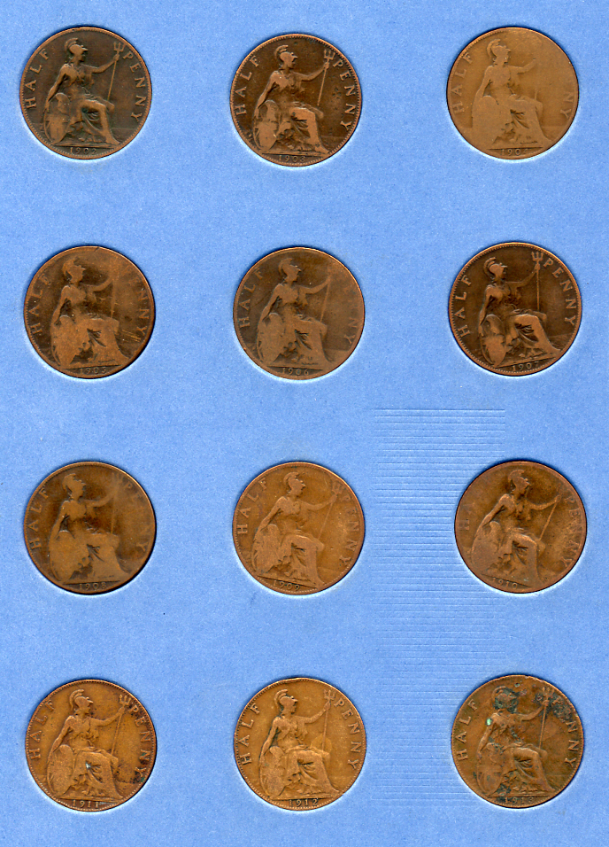 Whitman Folder - halfpennies