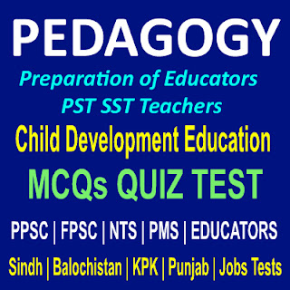 Educators MCQs With Online Quiz Test For PST SST Teachers Training MCQs