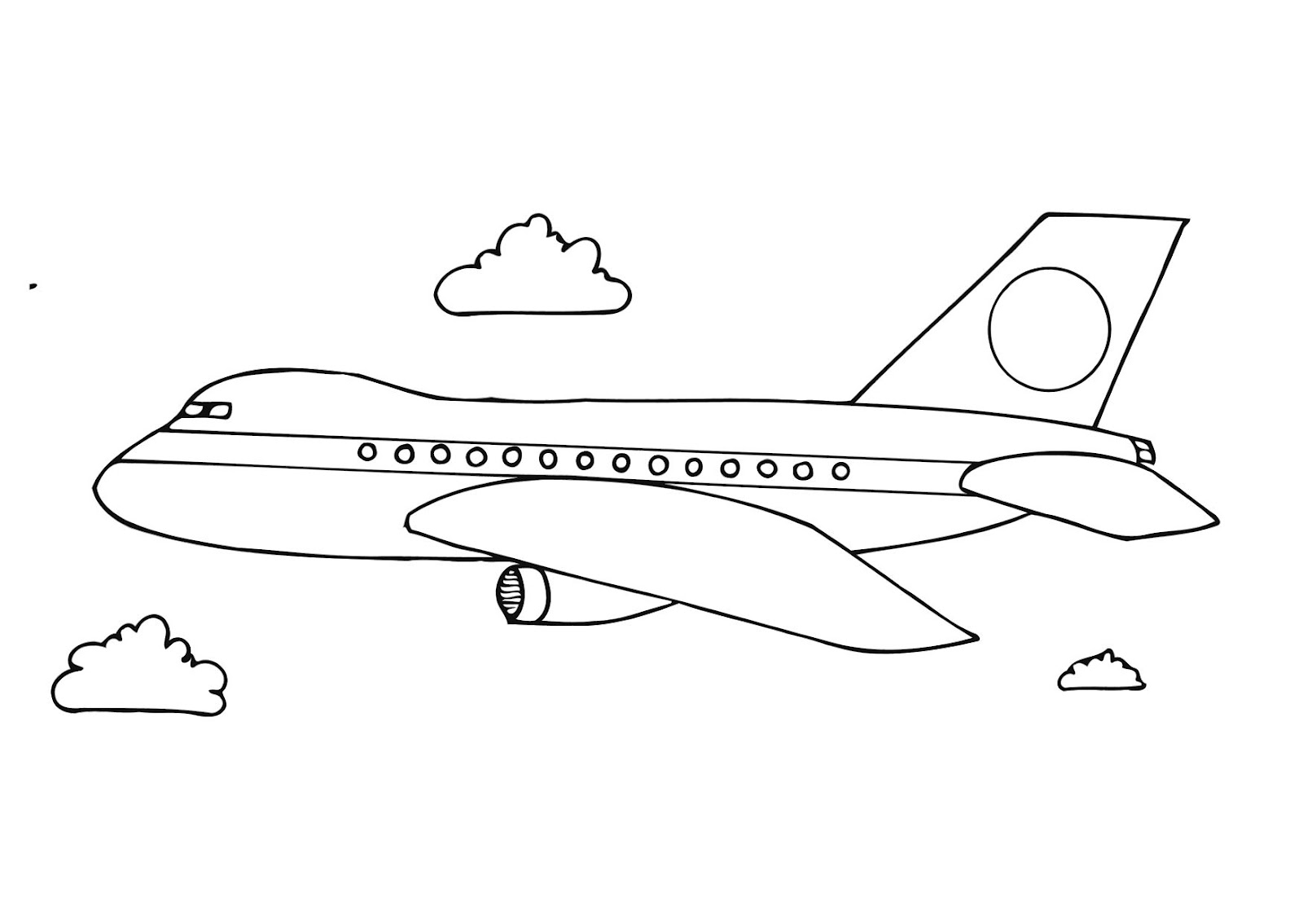 Kids Page Aeroplane Coloring Pages
