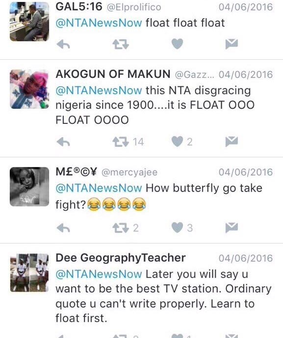 Nigerians roast NTA for misquoting Mohammad Ali
