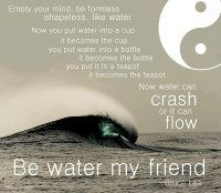 Be Water My Friend Bruce Lee Quote Design