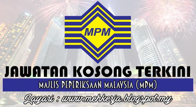 Jawatan Kosong Terkini 2016 di Majlis Peperiksaan Malaysia (MPM)