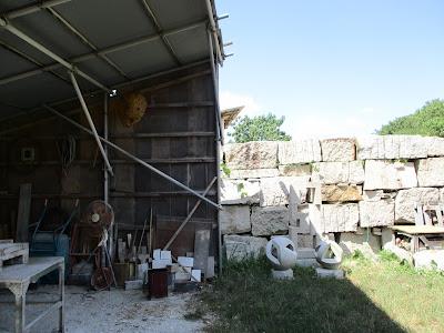 彫刻家 久保極の仕事場