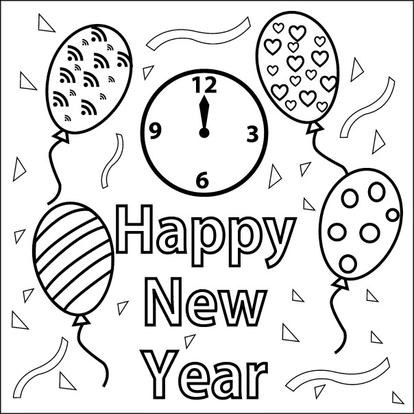 2016 new years eve coloring pages ~ New Year S Ball Coloring Sheets Coloring Pages