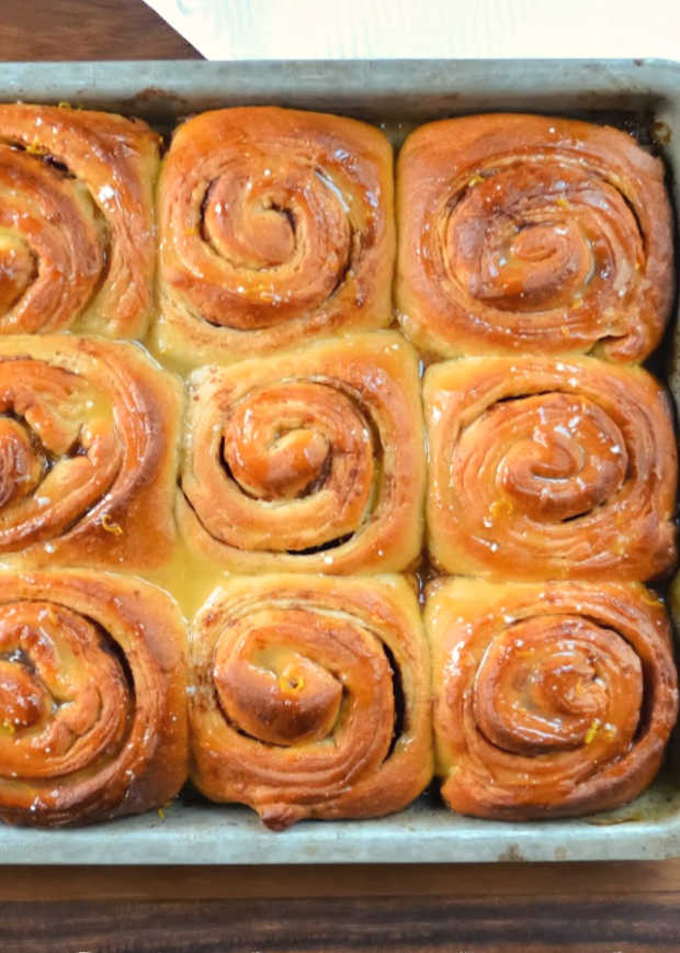 Orange Glazed Orange Cinnamon Rolls are a favorite recipe for breakfast or brunch from Serena Bakes Simply From Scratch.