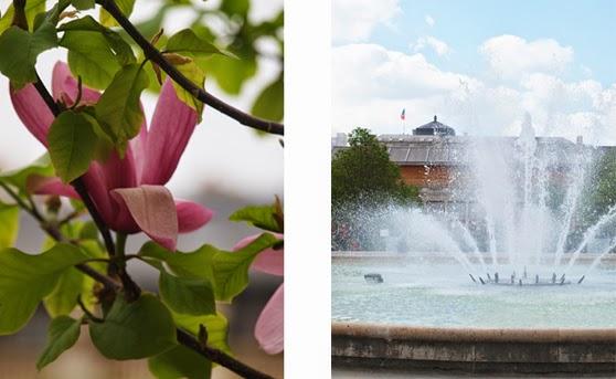 Forår i Paris med blomstrende parker