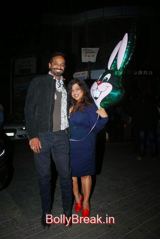 RJ Malishka with a guest, Richa Chadda's Birthday Party Hot Images