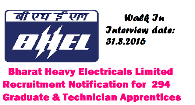 BHEL, Electronics Division, Bengaluru recruitment 2016 Graduate & Technician Apprentices – 294 Posts|Bharat Heavy Electricals Limited Recruitment Notification for 294 Graduate & Technician Apprentices|Recruitment Notification 2016 in BHEL For 294 Graduate & Technician Apprentices/2016/08/Bharat-Heavy-Electricals-Limitedbhel-electronics-division-bengaluru-recruitment-notification-2016-for-graduate-technician-apprentices-posts.html