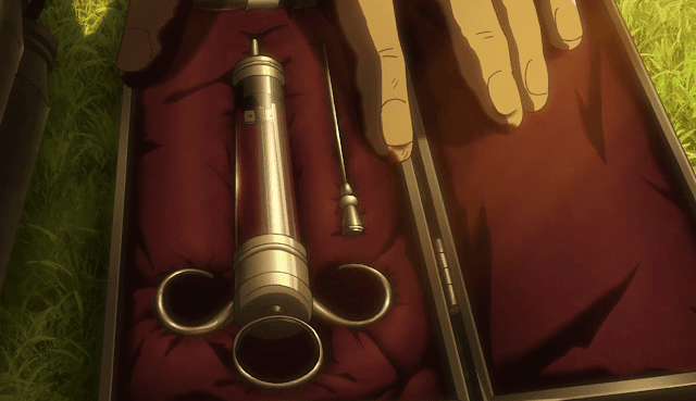 Syringe and the titan serum - Attack On Titan Season 3 Episode 10