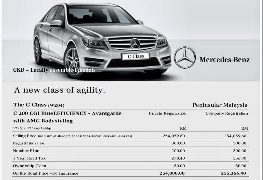 Motoring malaysia some mercedes benz news over at for Mercedes benz c service cost