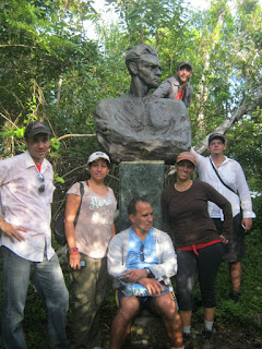 Comunidad La Platica, Pico Mella, desde la Izquierda, Osvy, Lina, Paco, Yanelkys, Redel y Leo
