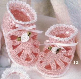 احذية اطفال من الكروشيه