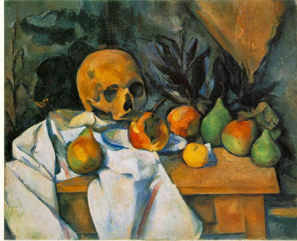 Natureza Morta com Caveira - Paul Cézanne e suas principais pinturas ~ O fundador da Arte Moderna